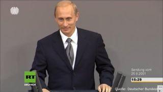 Германия 2001 год. Бундестаг: Это самая легендарная речь Путина, которая уже вошла в историю.